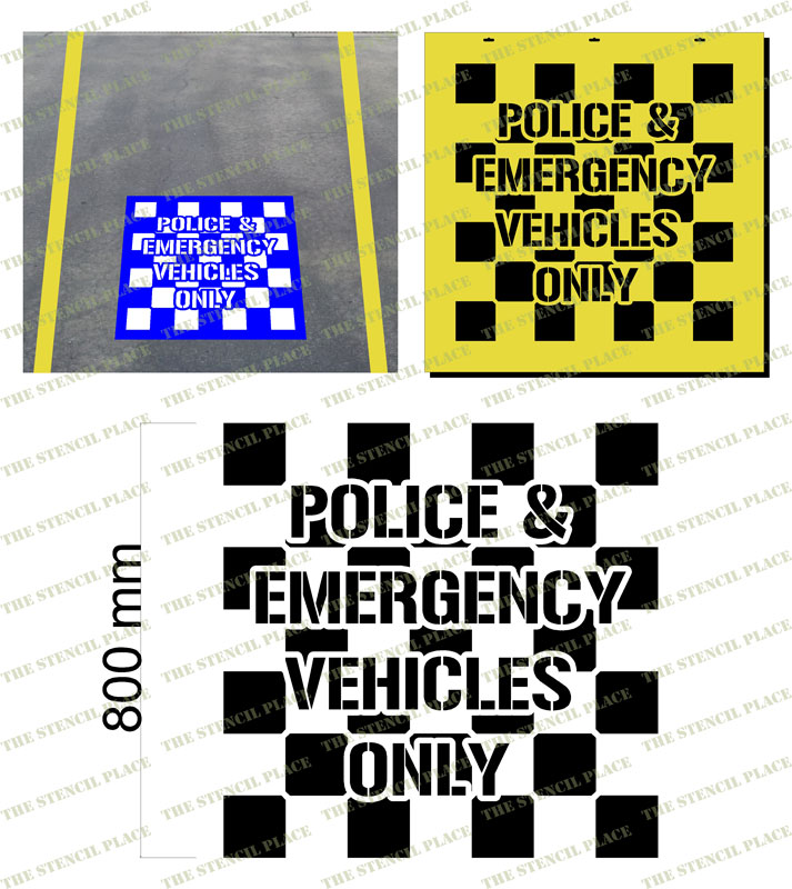 Car Park Symbols And Pictograms Police And Emergency Vehicle